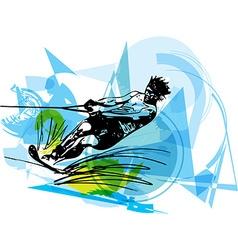 Water skiing vector