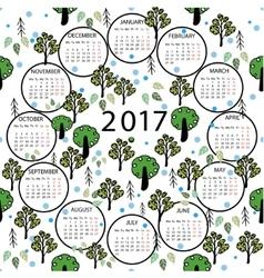 Calendar 2017 year abstract vector