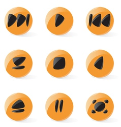 Smooth media player buttons vector image