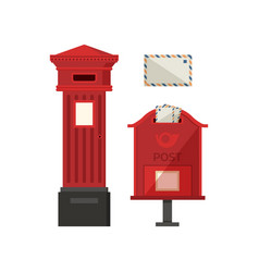 red pos boxes vector image