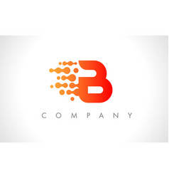 b logo b letter icon design vector image