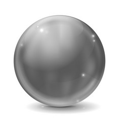 graphite gray glass ball shiny sphere vector image