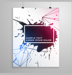 Abstract ink drop flyer poster template vector