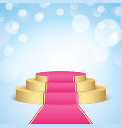 golden stage with pink carpet vector image