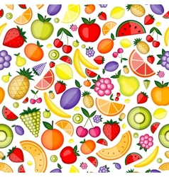 Fruits seamless pattern for your design vector image