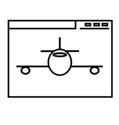Aeroplane website icon vector