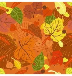 seamless background from the leaves vector image