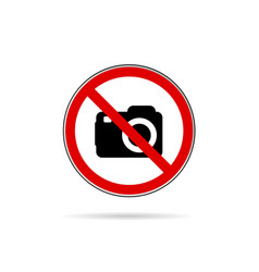 No camera icon vector