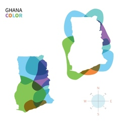 Abstract color map of ghana vector