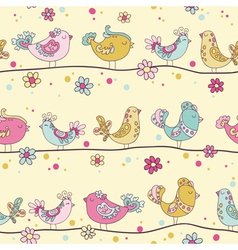 Cute birds and birds houses background vector