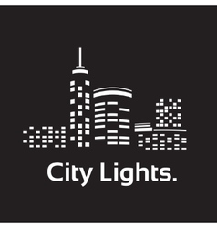 City lights vector