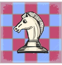 Chess knight vector