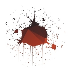 Dome-shaped ink splatter vector