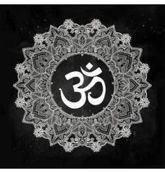 Lord ganesha om mandala symbol vector
