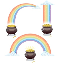 Pot and rainbow vector
