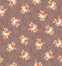 Seamless pattern with roses on a background of vector image