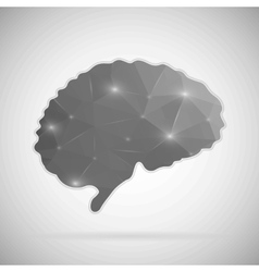 Abstract creative concept icon of brain for vector