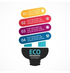 Energy efficient light bulb arrows green vector image