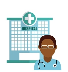 Hospital icon design vector