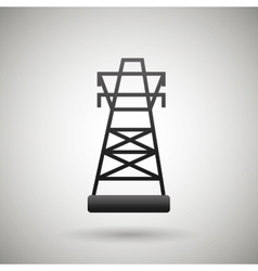 tower energy design vector image
