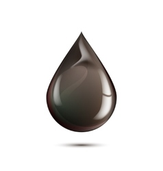 Black drop isolated on white vector