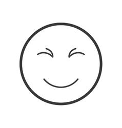Cartoon face icon circle design graphic vector
