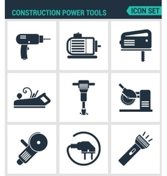 Set of modern icons construction power vector