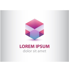 Abstract geometric crystal logo for company vector