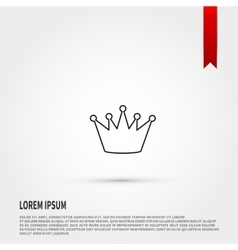 Black crown icon flat design style vector