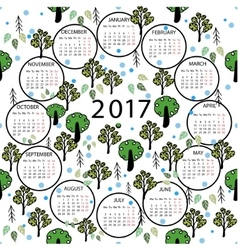 Calendar 2017 year abstract vector
