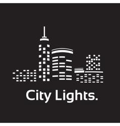 City lights vector