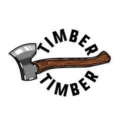 Color vintage timber emblem vector