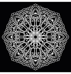 Crochet lace mandala vector
