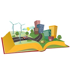environmental book vector image