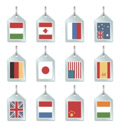 flag key fobs vector image vector image