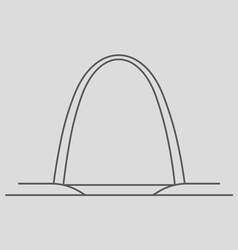 Gateway Arch vector image