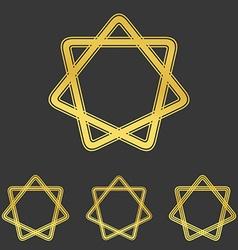 Golden loop star logo design set vector