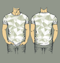 Gray t-shirts templates vector