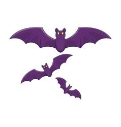 Halloween bats icon cartoon style vector image