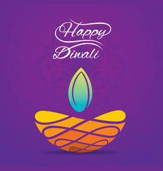 happy diwali greeting design vector image