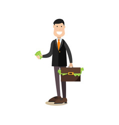 Investor concept in flat style vector