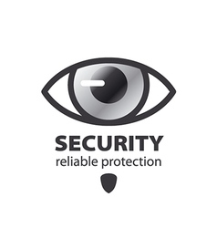 Logo eye protection and surveillance vector