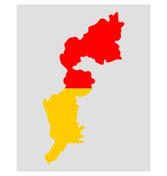 Map and flag of burgenland vector