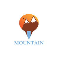 mountain point logo vector image