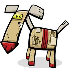 Robot dog cartoon vector