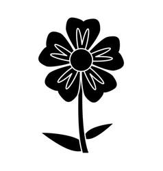 Silhouette geranium flower natural vector