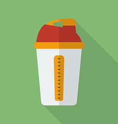Sport shaker icon modern flat style with a long vector