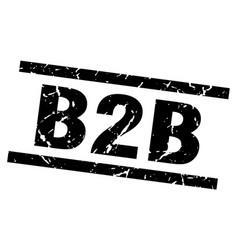 Square grunge black b2b stamp vector