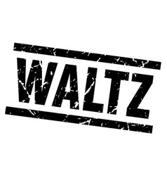 Square grunge black waltz stamp vector