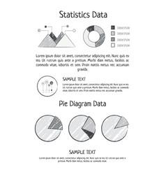 statistics data pie diagram vector image